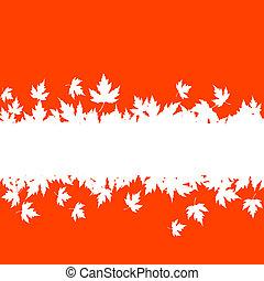 Der Herbst hinterlässt Hintergrund mit Plank-Grenze