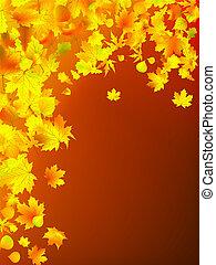Der Herbst hinterlässt Hintergrund
