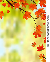 Der Herbst verlässt die Grenze für deinen Text.