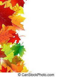 Der Herbst verlässt die Grenze