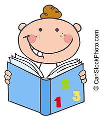 Der Junge liest ein Buch
