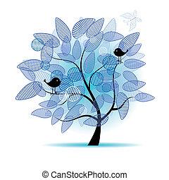 Der Kunstbaum ist schön für dein Design