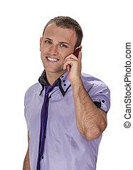 Der Mann am Telefon.