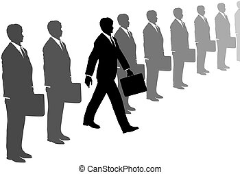 Der Mann von der Geschäftsinitiative verlässt die grauen Anzüge
