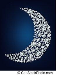 Der Mond bildete eine Menge Diamanten.