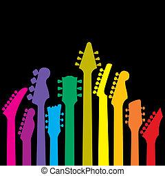 Der Regenbogen der Gitarren