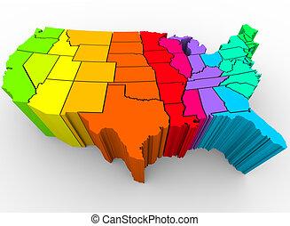 Der Regenbogen der Vereinigten Staaten - kulturelle Vielfalt