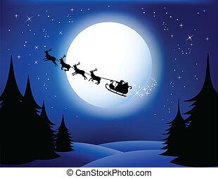 Der Schlitten des Weihnachtsmanns