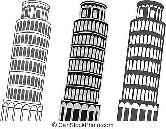 Der Turm von Pisa.