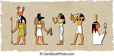 Der Vektor des ägyptischen Gottes