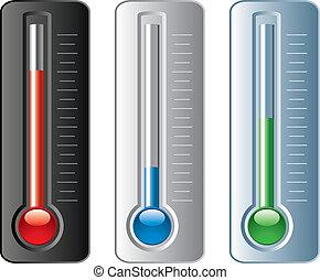 Der Vektor hat Thermometer