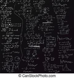 Der Vektor-Hintergrund mit physischen Formeln