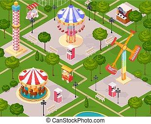 Der Vergnügungspark für Kinder.
