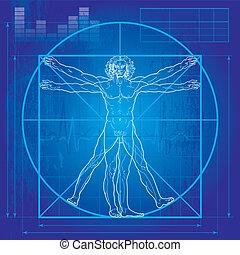 Der vitrukanische Mann (Blueprint Version)