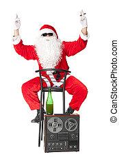 Der Weihnachtsmann hat Spaß auf der Party