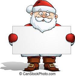 Der Weihnachtsmann mit einem Etikett