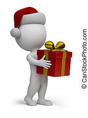 Der Weihnachtsmann mit einem Geschenk