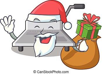 Der Weihnachtsmann mit Geschenkverbinder.