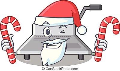 Der Weihnachtsmann mit Süßigkeitenbinder.