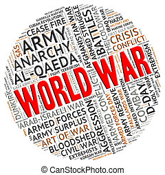Der Weltkrieg steht für militärische Aktionen und Kämpfe.