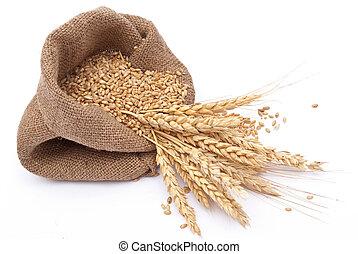 Der zerstreute Sack mit Getreide