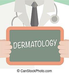 dermatologie, medizin, brett