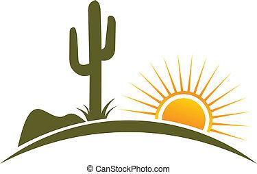 Desert-Design-Elemente Sonnen-Logo