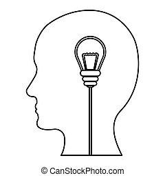 design, bild, silhouette, ideen, gedanken