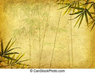 Design chinesischer Bambusbäume mit handgemachtem Papier