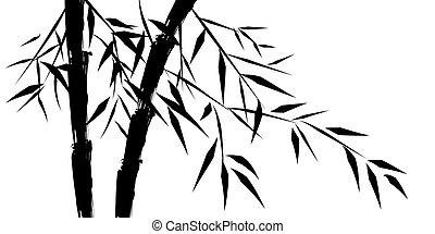 Design chinesischer Bambusbäume