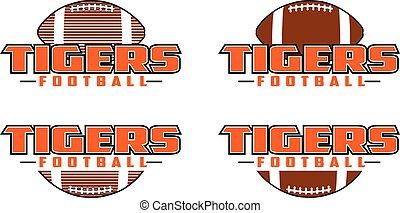 design, fußball, tiger
