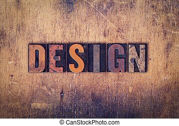 Design Konzept Holzbuchstabentyp.