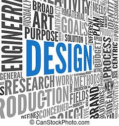 Design-Konzept in Tag Cloud