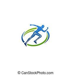 design, kreativ, logo, chiropraktik, begriff, schablone
