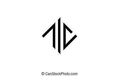 design, logo, brief, schablone, c