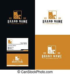 design, luxus, pferd, prämie, vektor, hund, logo, katz