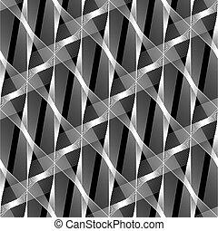 Design nahtlose monochrome geometrische Muster
