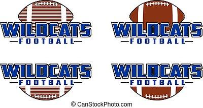 design, wildcats, fußball