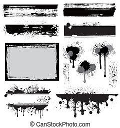 Designelement für grunge Tinte.