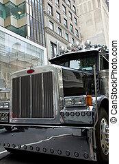 Detaillierter Schuss an der Vorderseite eines Trucks