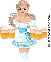 Deutsche Mädchen-Kellnerin