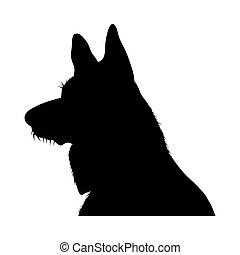 Deutsche Schäferhund Silhouette