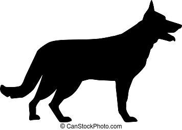Deutsche Shepherd Silhouette.
