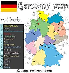Deutschland Karte und Land.