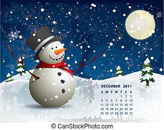 Dezemberkalender - Schneemann