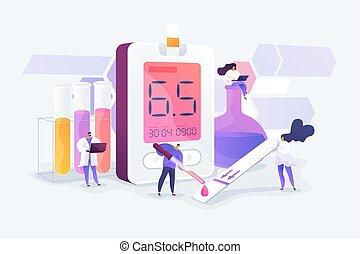 Diabetes mellitus Konzept vektorischer Illustration
