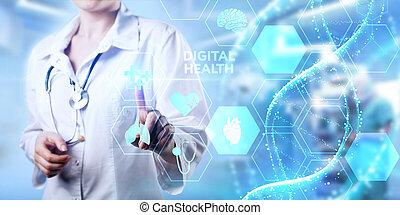 diagnosis., medizin, concept., gesundheit, digital, healthcare, technologie, modern