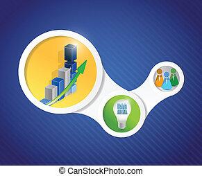 Diagramm für Geschäfte Illustration