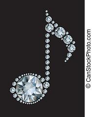 Diamant-Musiknote