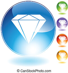 Diamanten-Juwelen-Kristall-Ikone